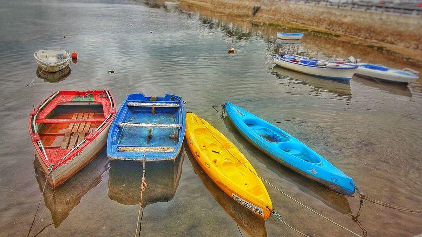 Colourful boats Boats Color Colorful Sea Water Port Puerto Barcas San Vicente De La Barquera Cantabria