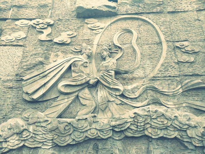 牛郎织女鹊桥相会……美丽的传说…… Backgrounds No People Outdoors 中国风