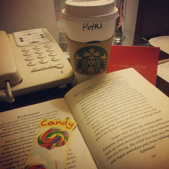 Find peace on this place! Books Hotchocolate Starbucks Hotel