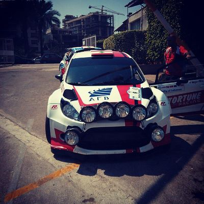 Roger Feghali's car ahead of RallyOfLebanon