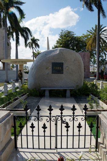 Architecture Castro Cemetery Cemetery Cloud - Sky Cuba Cuba Collection Cuban Life Day Fidel Castro FidelCastro Grave Grave Gravestone Graveyard No People Revolution Santiago De Cuba Symbol Tombstone