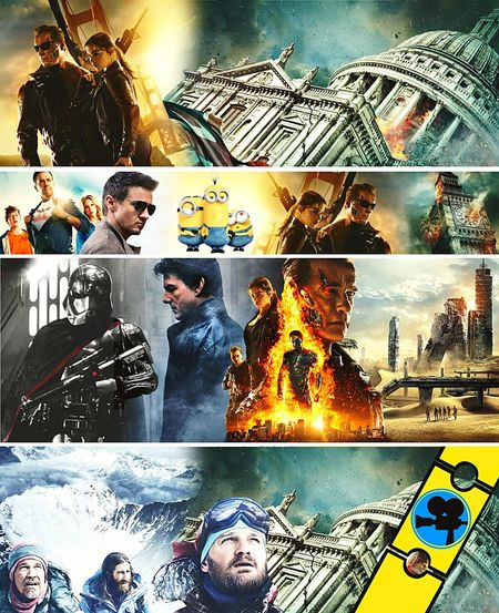 New Banners to YT Twitter Facebook Terminator Mission Impossible Minions Vacations Star Wars EverestThe Maze Runner