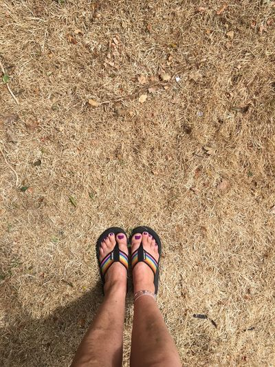 Drought EyeEm Selects Human Leg Low Section Body Part Human Body Part Shoe One Person Personal Perspective Adult Standing Sandal High Angle View Sunlight Women Nature Limb Land Human Limb Day Lifestyles Human Foot