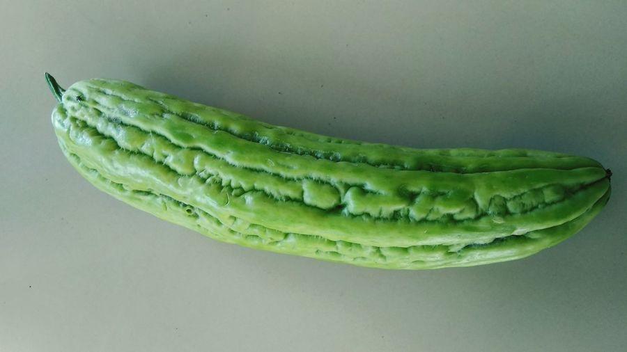 bitter melon Vegetarian Food Vegetables Green Bitter Studio Shot Vegetable Close-up Green Color Food And Drink Vegan Tropical Fruit