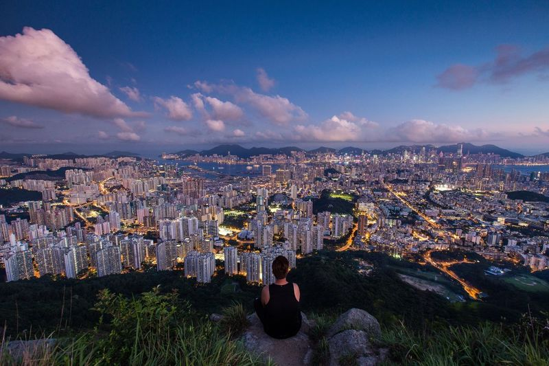 Everyone know each other under Lion Rock Landscape HongKong Lion Rock Mountains Night Travel City Sunset Topview Pmg_hok