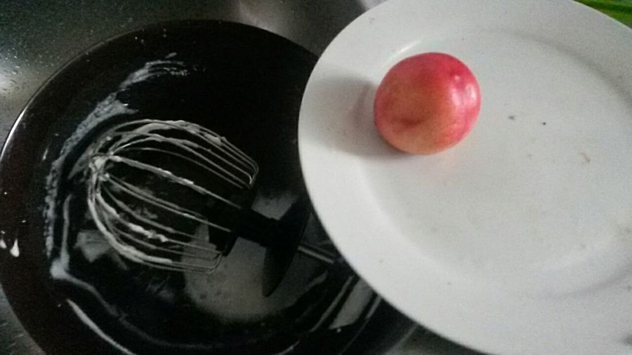 Cake in process : the sink Sink Baking Time Kitchen Ustensils Bowl White Plate Peach Nectarine Inprocess