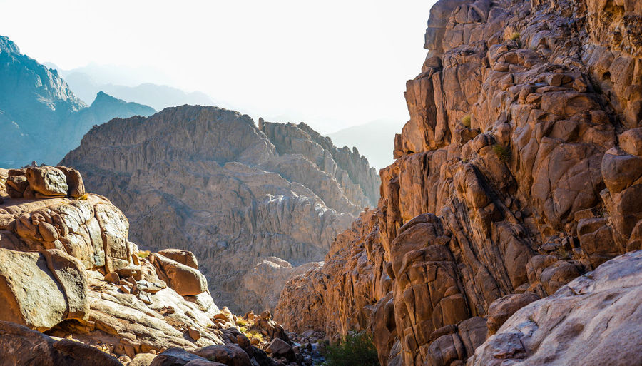St. Catherine mountains in Sinai, Egypt Beauty In Nature Day Landscape Mountain Mountain Range Nature No People Outdoors Rock - Object Rock Climbing Scenics Sky Travel Destinations