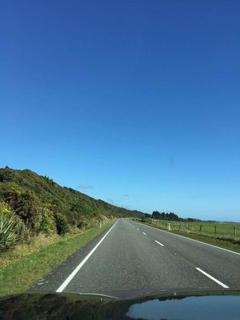 Road Clear Sky No People Highway Outdoors Newzealand