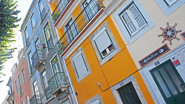 Colourful Colours Lissabon, Portugal Architecture Bight Day Building Exterior Built Structure City Colour Day Lissabon Low Angle View No People Outdoors Sunshine Travel Destinations Wall Colors Walls Window Yellow