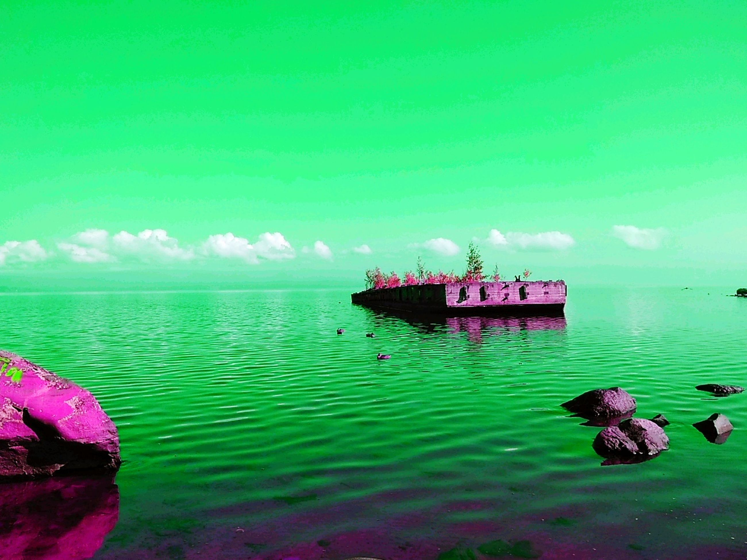water, nautical vessel, transportation, mode of transportation, sky, sea, nature, travel, scenics - nature, cloud - sky, waterfront, day, no people, beauty in nature, tranquility, ship, tranquil scene, outdoors, horizon