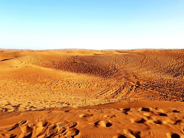 Sand Desert Sand Dune Landscape Sparse No People Nature Arid Climate Beautiful Day Miles Away