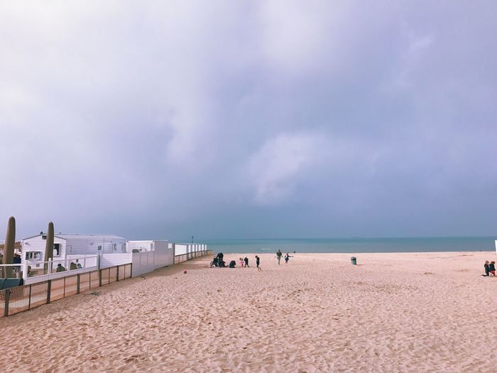 Sea Seaside Beach Nature Sand Outdoors Tranquility Peace Of Mind Cloud - Sky Clouds And Sky Cloud Sea And Sky Seascape Beauty In Nature Coastline Sky Horizon Over Water Belgium The Great Outdoors - 2017 EyeEm Awards