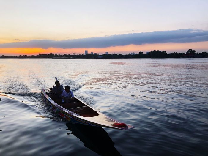 Water Nautical Vessel Transportation Mode Of Transportation Sky Sunset Beauty In Nature Travel Waterfront Silhouette