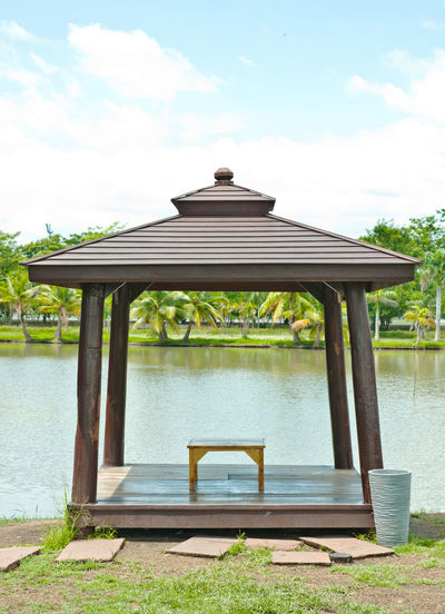 Architecture Asian  Day Decor Decoration Garden Gazebo Nature No People Outdoors Pavilion Pond Sky Style Sunlight Tranquility