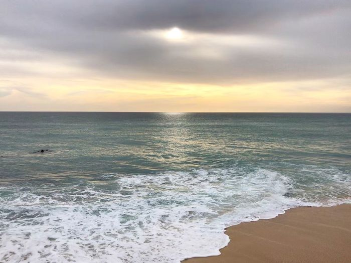 Algarve love Skyscape Ocean Portugal Algarve Sky And Clouds Ocean At Sunset Sunset Over Water Carvoeiro Vale Centianes Sea Water Sky Horizon Over Water Beach Land Horizon Cloud - Sky Scenics - Nature Beauty In Nature Wave Tranquil Scene Tranquility Sunset