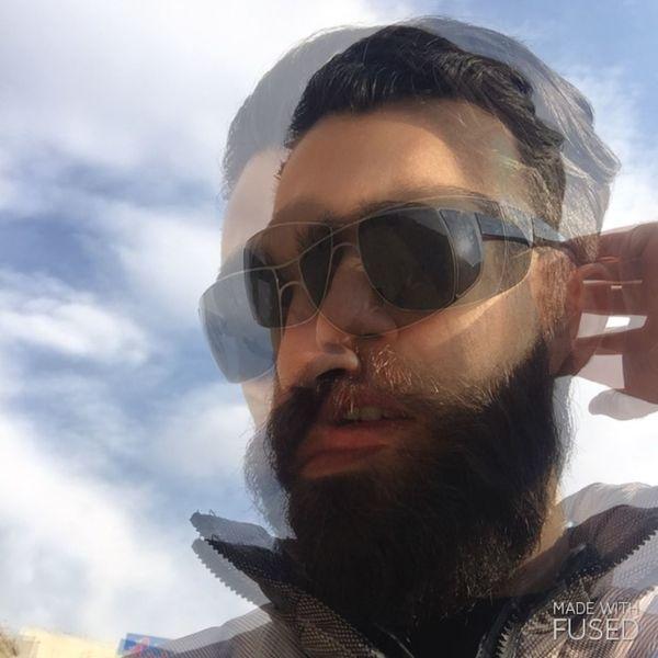 Portrait Hallucinations 3D Dizziness Blue Sky Suny Day Beard Persian