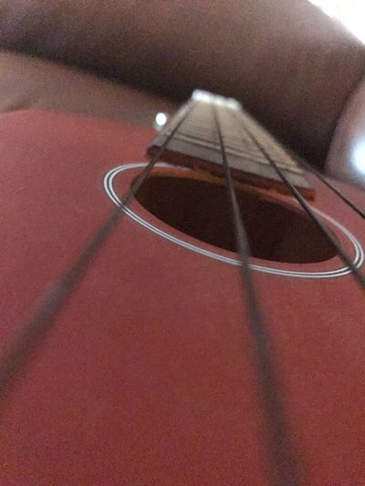 Close Instrument Music High Angle View Day Red Close-up No People