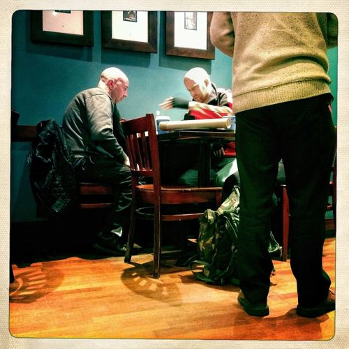 Derby UK | men playing chess in the coffee shop #photojournalism #documentary #reportage #iphoneography #iphoneonly #streetphotography #mobilephotography #photooftheday #picoftheday www.garyaustinphotographer.com