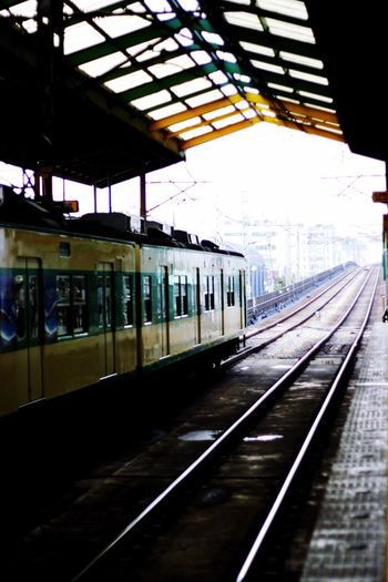 Transportation Rail Transportation Railroad Track Public Transportation Railroad Station Platform Train - Vehicle Railroad Station Mode Of Transport Indoors  Day Built Structure No People Architecture Sky I Want To Know Your Secret, C I Always Thinking About U, G Thank You,❤️ 감사합니다