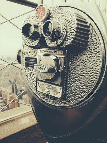 Empire Empire State Building Metallic Viewing Machine Viewing Platform