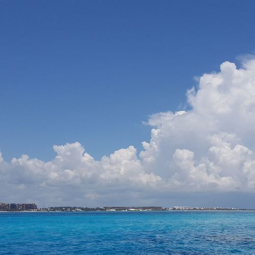 Blue Blue Sky Cloud - Sky Outdoors Sky And Clouds Sky Lines Sun And Clouds Water