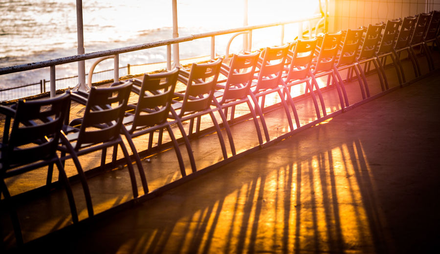 Beach Chairs Beach Photography Beach Walk Day France Holiday Nature Nice Nizza No People Out Shadow And Sunset Shadows & Lights Springtime Still Life StillLifePhotography Sundown Tourist Destination Waiting Warm Colors Water EyeEmNewHere