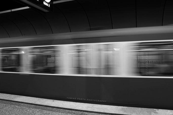 EyeEmNewHere Transportation Blurred Motion Subway Train Speed Subway Station Long Exposure Travel No People