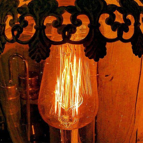 Warm Light Light-bulb Close-up Lamp