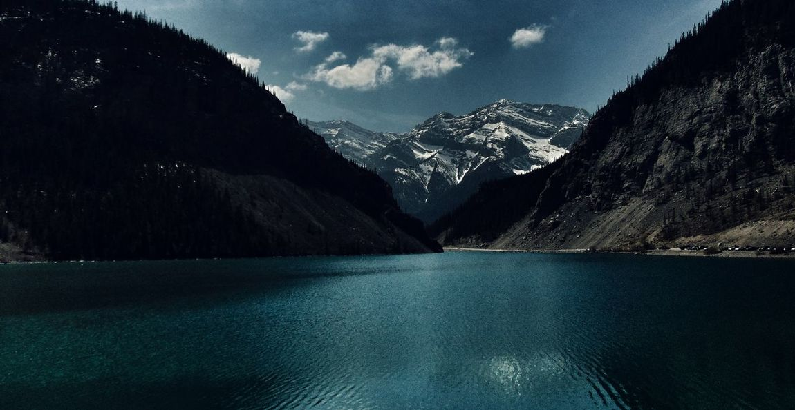 beauty of a day in the mountains :) Beauty In Nature Blue Calm Cloud Epic Lake Landscape Majestic Mountain Mountain Addict Mountain Range Nature Ripples Scenics The Great Outdoors With AdobeSnowcapped Mountain Water Nature EyeEm Nature Lover The Great Outdoors - 2016 EyeEm Awards