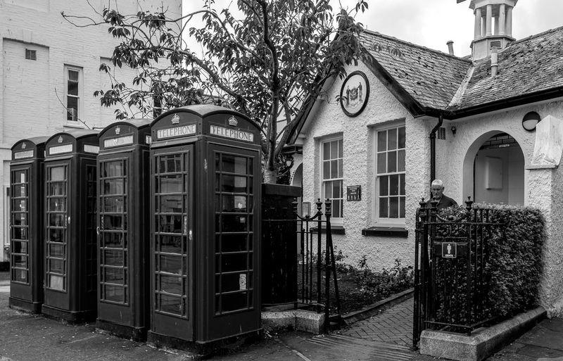 Public lavatories and K6 telephone kiosks Architecture Urban Black And White Fujfilmxt10 Monochrome Telephone Box Toilets Truro Cornwall