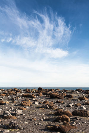 Beach Beauty In Nature Blue Cloud - Sky Day Horizon Over Water Iceland Iceland Memories Nature No People Outdoors Pebble Beach Rock - Object Scenics Sea Sky Tranquil Scene Tranquility Water