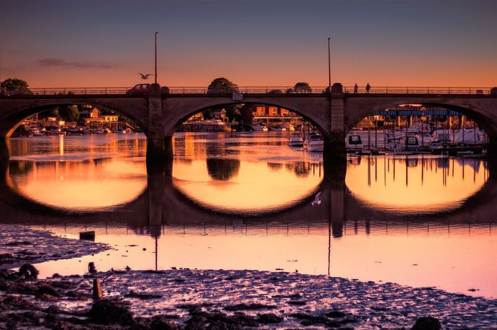 Cobden bridge Southampton Bridge Connection Bridge - Man Made Structure Reflection Built Structure Architecture Sunset Water Illuminated Nature Outdoors City Building Exterior Day