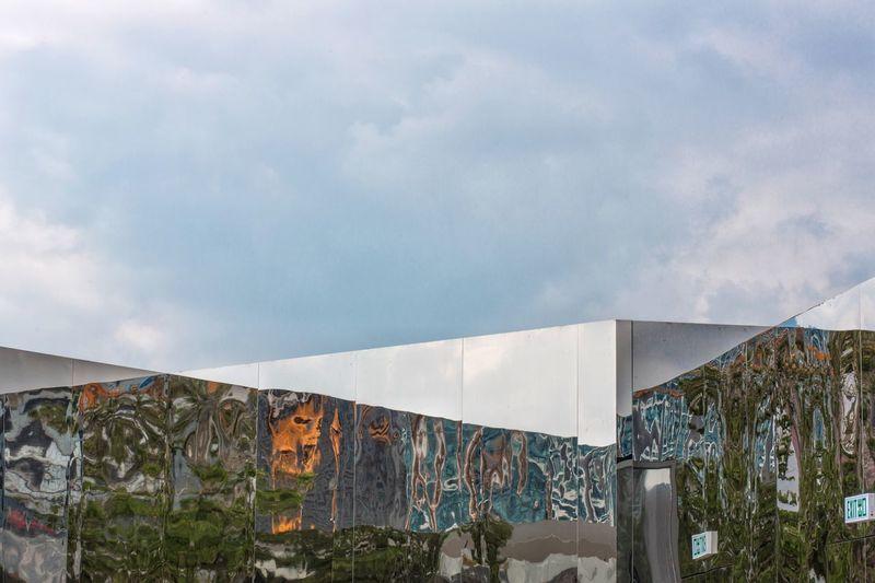 Reflection Sky Built Structure Architecture Mirror Reflection Building Exterior HongKong Exhibition Art