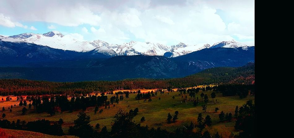 So Much Color! Mountain Range Snow Beauty In Nature Mountain Scenics Landscape Cloud - Sky Snowcapped Mountain Tranquility Rocky Mountain National Park Colorado Travel Destinations Heaven In The Mountains Mountain Valley
