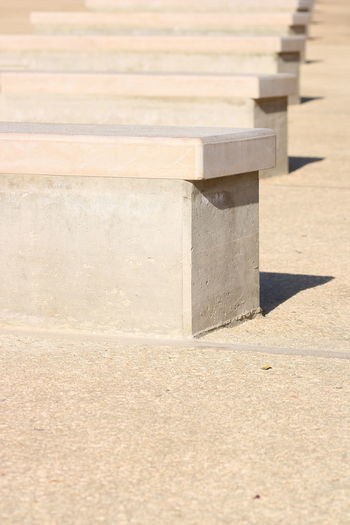 Close-up Day In A Row Memorial No People Outdoors Seats Sunlight