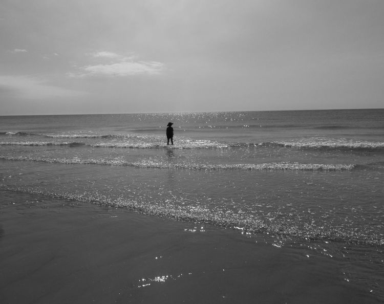 Eyeem Monochrome - On The Beach - Creative Light And Shadow - Landscapes - Eye4photography  - Light & Dark - Capturing Freedom
