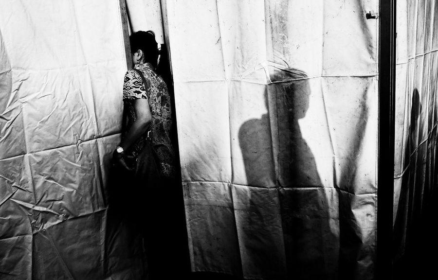 Solo, 2014. The Street Photographer - 2015 EyeEm Awards Street Photography Blackandwhite INDONESIA