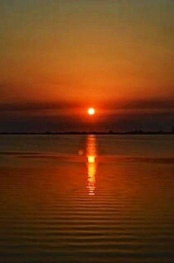 Reflection sunrise ocean