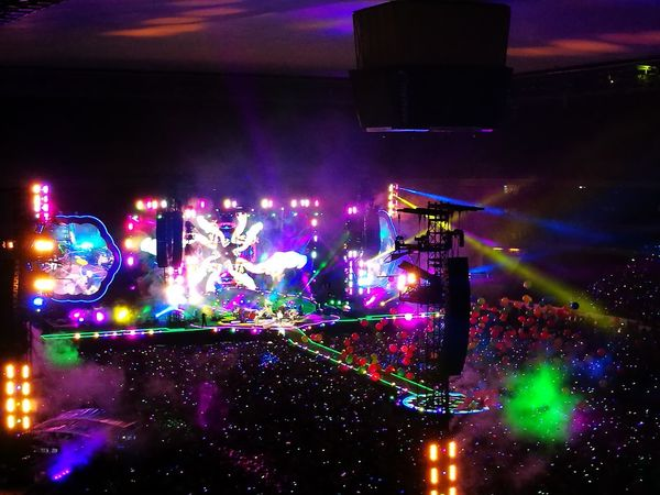AHFODtour Frankfurt COLDPLAY ♥ Nightlife Multi Colored Illuminated Night Adventure Of My Life. :)  Magic Moments