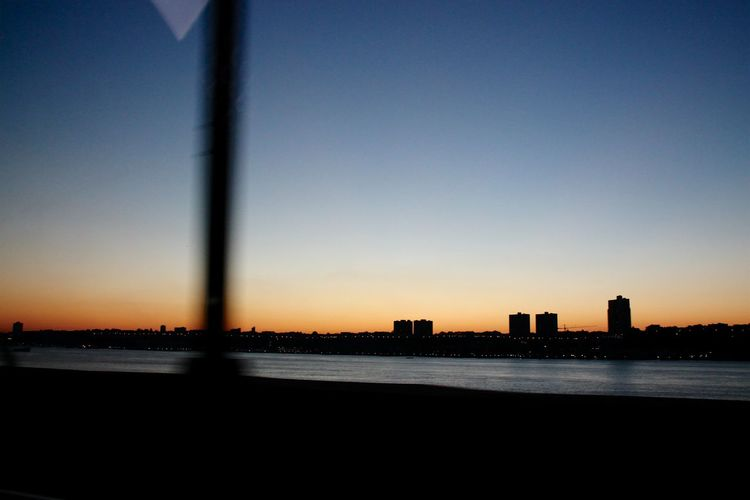 Architecture Building Exterior Built Structure City Day Horizontal Nature New York Skyline  No People Outdoors Reflection Sky Sunset Water Capturing Motion