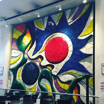 Taro TAROOKAMOTO Bild Drawing Eyes Augen Art Wall Wand Cafe Lunch Mittagessen Chilling Hungry Uni University Japan Kyoto Kyoto,japan Cool Kunst Painting Lunchtime