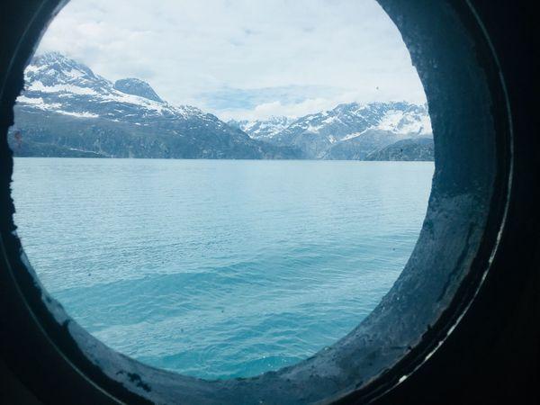 Porthole Ship Porthole Water Window Glass - Material Transparent Mountain Sky Nature EyeEmNewHere