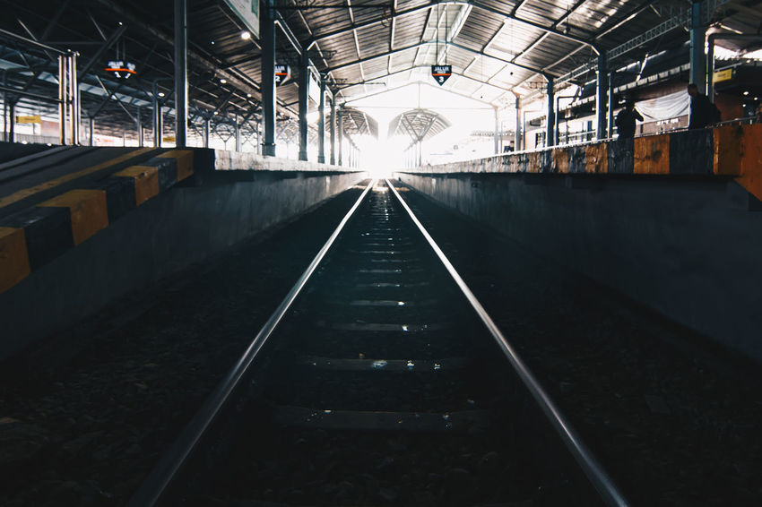 Architecture Built Structure Day Illuminated Indoors  No People Rail Transportation Railroad Track The Way Forward Transportation