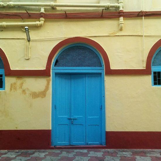 Door Colorful Colourful Symmetry Facades Church