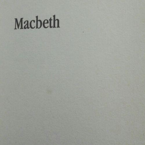 Now Reading Shakespeare Macbeth