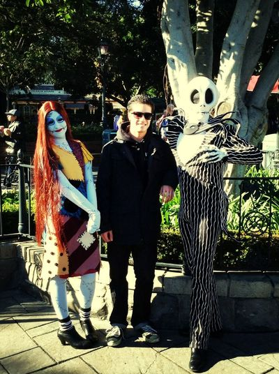 W/ Jack and Sally :) nightmare before Christmas :):)