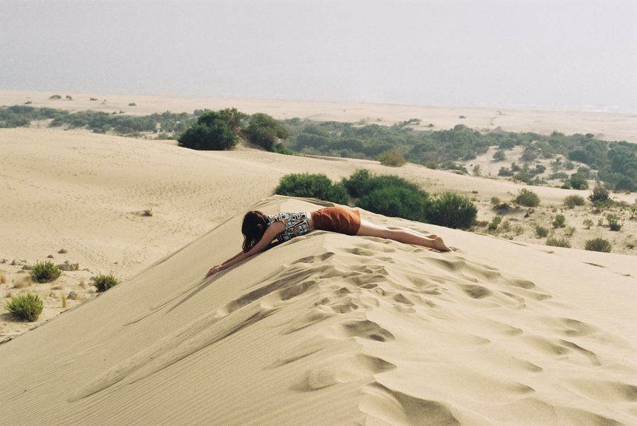 Filmisnotdead Film Photography Analogue Photography 35mm Film Dune Sand One Person Land Nature Leisure Activity Real People Day Side View Landscape Outdoors