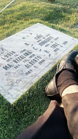 Missing them. Grandmother Aunt  Father Cemeteryscape💔
