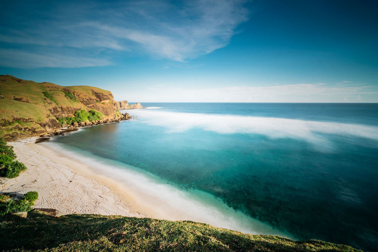 A7, Zeiss 16-35 Blue Skies Exotic Holiday Lombok-Indonesia PainKiller Paradise On Earth Sumbawa Travel Vacations Wanderlust Beach Beachphotography Idyllic Landscape No People Paradise Resort Rocks Slow Shutter Travel Destinations Tropical Tropical Climate Vacation Zeiss