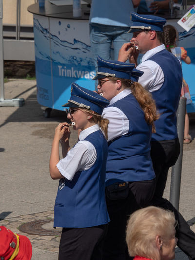 118. Deutscher Wandertag - Parade of participating groups Marching Band Adult Cap Clothing Day Emotion Females Group Of People Lifestyles Men Outdoors Parade People Pipers Pipers Parade Real People Side View Street Photography Streetphotography Summer Three Quarter Length Traditional Uniform Women